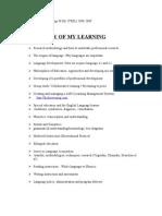 Framingham M.Ed Portfolio / Course Reflections