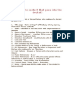 Contents of PPM Dockets