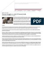 Europe Struggles to Catch US Biotech Bulls