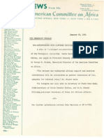 American Committee on Africa -- Non-Interference With Captured Cruiseship Urged on Kennedy