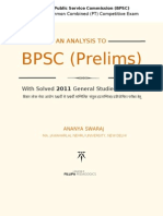 An Analysis to BPSC PT With Solved 2011 Question Paper