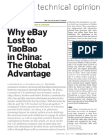 Why Ebay Lost to Taobao (Ou 2009 CACM)