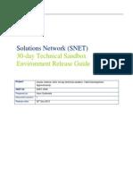 SNET-3506 30 Day Technical Sandbox Oracle SOA 11.1.1.6 Availability Document