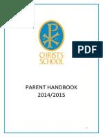 Christ's School Parent Handbook 2014-2015