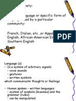Sociolinguistics 2 - Language Variety