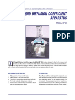 Liquid Diffusion Coefficient Apparatus BP09