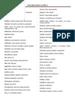 Vocabulario Latín 4