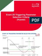 Event 2D Triggering Parameter Selection Criteria_V1.0