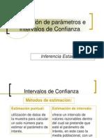 Estimación de Parámetros e Intervalos de Confianza
