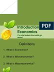 introduction to economics scarcity and the science of economics