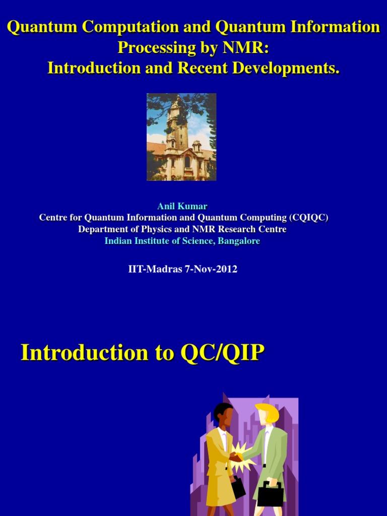 quantum studies in IISC   Quantum Computing   Genetic Algorithm