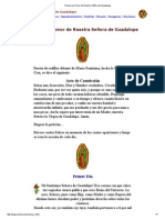 Novena en Honor de Nuestra Señora de Guadalupe
