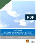 Kutxabank. NOTICIAS DE GIPUZKOA ANTE LA PROPUESTA DE LA DIPUTACIÓN
