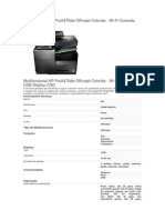 Multifuncional HP ProX476dw Officejet Colorida