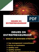 Topic 11 - Issues on Entrepreneurship
