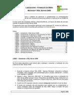 Laboratorio Treinamento Formacao DBAs Microsoft - Rev01