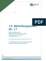 Curriculum Humanmedizin