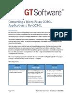 Converting a Micro Focus COBOL Application to NetCOBOL