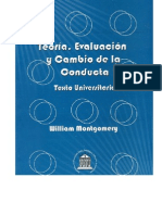 Teoría, Evaluación y cambio de la Conducta (Carátula, contracarátula e índice)