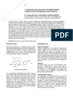 A New RP-HPLC Method for Analysis of Mebeverine Hydrochloride in Raw Materials and Tablets