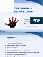Cryptography in Biometric Security
