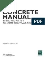 Concrete Manual Toc