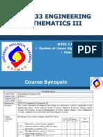 Engineering Maths 3(Week1)