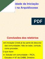 A Realidade Da Iniciação Cristã Na Arquidiocese