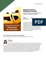 Educacion Financiera Decisiones de Inversion