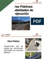 Obras Públicas - Modalidades de Ejecución