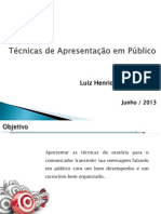 Técnicas de Apresentação Em Público - Geral