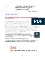 Creating a Brochure Flyer and Newsletter Using Microsoft Publisher For