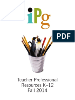 Fall 2014 IPG Teacher Professional Resources K-12