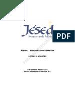 Letras CD en Adoracion Perpetua