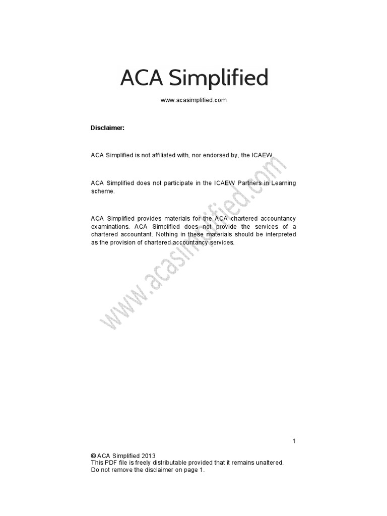 Case Study Paper Of Icaew - How to pass the ACA case study paper