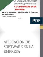 Aplicación de Software en La Empresa