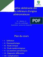 Artériopathie oblitérante des membres inférieurs d'origine athéromateuse.pptx