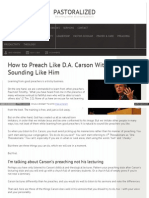 How to Preach Like D A Carson