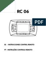 Manual Control RC06 de Caldera BAXI Ref. LUNA