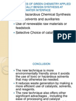 Principles of Green Chemistry Applied in Chemically Benign