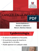 Cancer en La Infancia