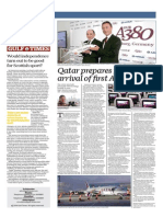 Qatar Prepares for Historic Arrival of First Airbus A380 - Gulf Times 18 Sep 2014