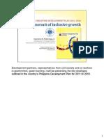 Philippine Development Forum - Paderanga (as Delivered)