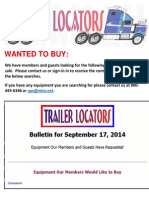 Wanted to Buy - September 18, 2014