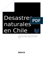 Desastres Naturales en Chile
