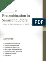 Radiative Recombination in Semiconductors