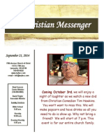 September 21 Newsletter