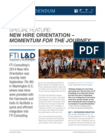 FTI New Hire Orientation