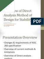 Direct Analysis Method