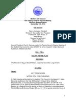 Medford City Council Agenda September 23, 2014